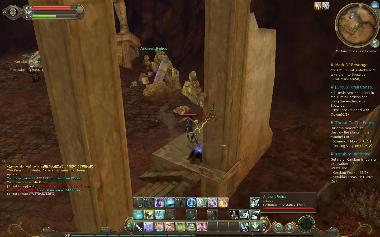 Aion - quest - Ancient Relic